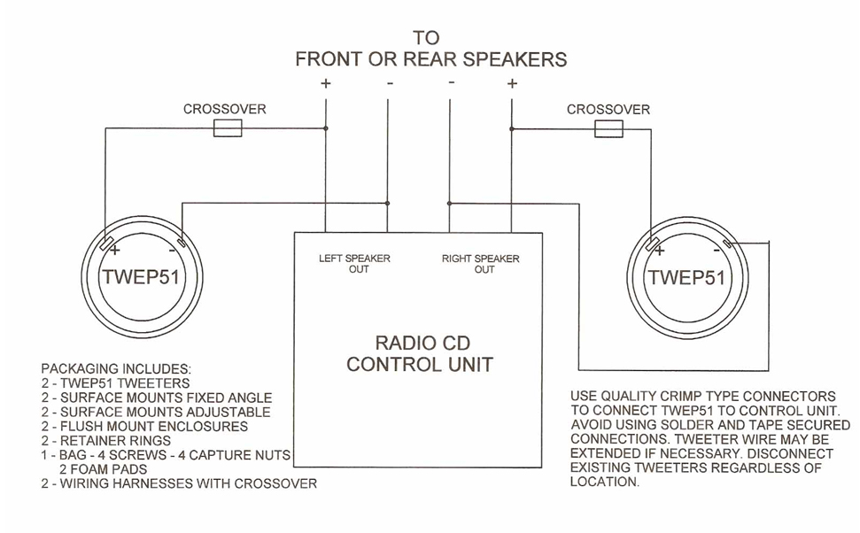 tbi audio systems products tweeter wiring diagram control eliminating the fidelity robbing breakup associated with its motion any object at rest wants to remain at rest and the diaphragm of a tweeter Tweeter Wiring Diagram